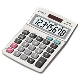 Casio - MS-80S Tax and Currency Calculator - 8-Digit LCD