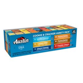 Austin Cookies And Crackers Variety Pack 152 Oz 45 Ct