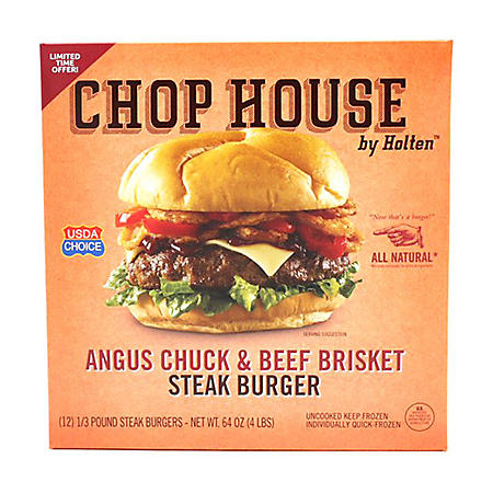 Chop House by Holten Angus Chuck and Beef Brisket Steak Burger (12