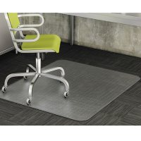 deflecto DuraMat Rectangle Moderate Use Chair Mat for Low Pile Carpet, 46 x 60 (Clear)