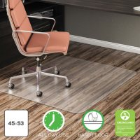Deflecto EconoMat All Day Use Chair Mat For Hard Floors, 45 x 53
