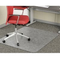 deflecto EconoMat Rectangle Occasional Use Chair Mat, 46 x 60 (Clear)