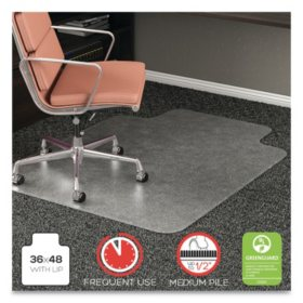 Deflecto RollaMat Frequent Use Chair Mat For Medium Pile Carpet 36 x 48