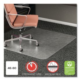 Deflecto RollaMat Frequent Use Chair Mat For Medium Pile Carpet 46 x 60