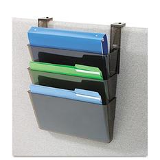 3-pocket file partition st w/brackets, LTR,SKE