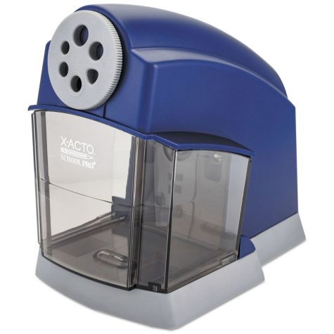 X-ACTO - School Electric Pencil Sharpener - Blue/Gray