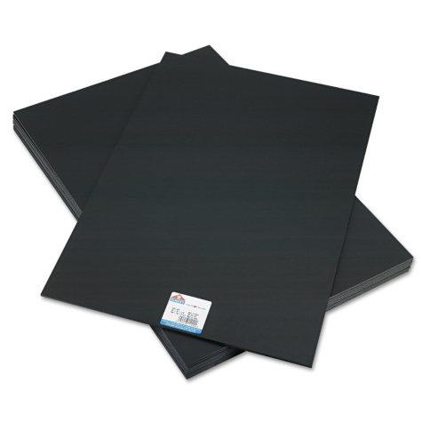 Elmer's - CFC-Free Polystyrene Foam Board, 20 x 30, Black Surface and Core -  10/Carton