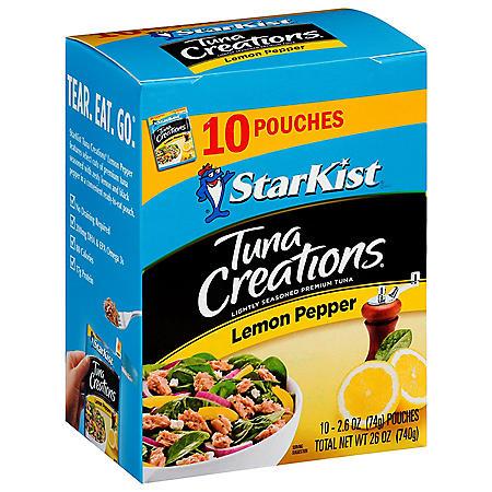 StarKist Tuna Creations, Lemon Pepper (2.6 oz.,10 pk.)