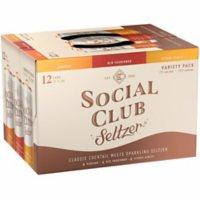 Social Club Hard Seltzer Variety Pack (355 ml, 12 pk.)