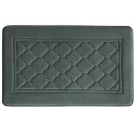"Antimicrobial Memory Foam Bath Mat (20"" x 32"")"