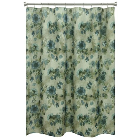 Bacova Blue Floral Shower Curtain