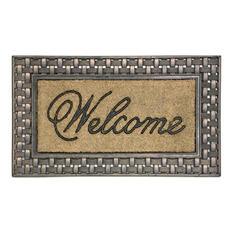 """Bronze Basketweave Framed Koko 18""""x30"""" Doormat"""