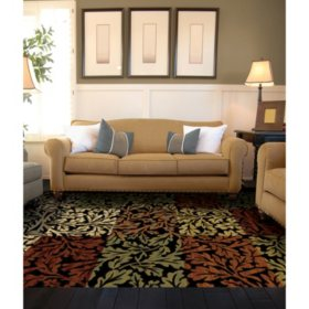Shadow Leaf Woven Rug (Assorted Sizes)