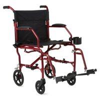 Ultra Lightweight Transport Wheelchair, Burgundy