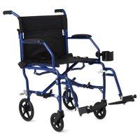 Medline Deluxe Ultra-Lightweight Transport Chair (Choose a Color)