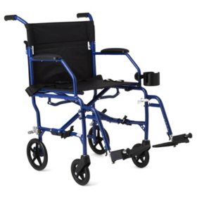 Medline Deluxe Ultra-Lightweight Transport Chair (Choose a Color)