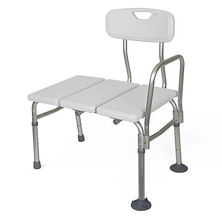 Medline Transfer Bench, Gray