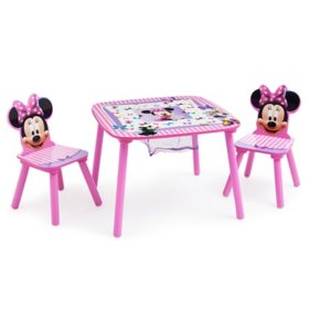 Disney Minnie Mouse Table and Chair Set with Storage by Delta Children