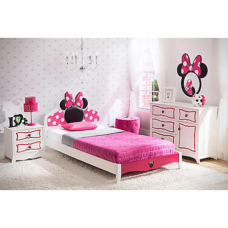 Delta Children Minnie Mouse 4-Piece Twin Bedroom Set - Sam\'s Club