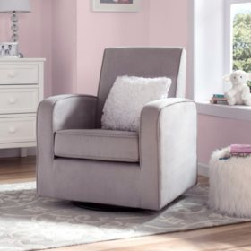 Delta Children Chloe Upholstered Glider, Gray