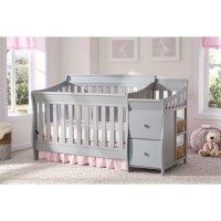 """Delta Children Bentley Convertible Crib 'N' Changer, """"S"""" Series, Gray"""