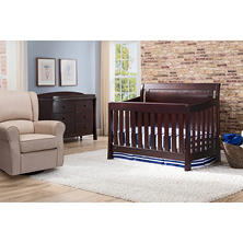 Simmons Kids Madisson 4-Piece Nursery Set, Espresso