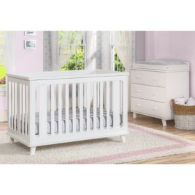 Delta Children Ava 3-Piece Nursery Set, White