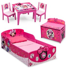 Delta Children Minnie Mouse Deluxe 3-Piece Toddler Bedroom ...