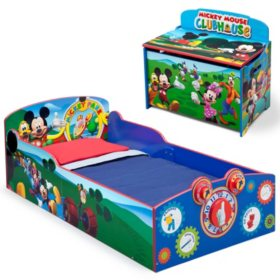 Delta Children Mickey Mouse 2-Piece Deluxe Toddler Bedroom Set - Sam\'s Club
