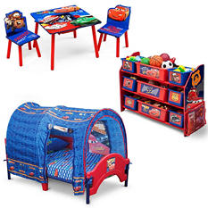 Delta Children Cars 3-Piece Toddler Tent Bedroom Set