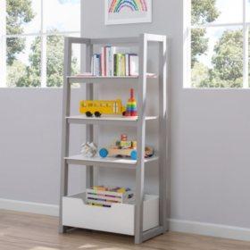 Delta Children Ladder Shelf, White & Grey