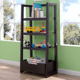 Delta Children Ladder Shelf, Dark Chocolate