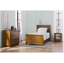 Delta Children Woodfield 3pc Twin Room-In-A-Box, Weathered Chestnut