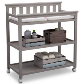 Delta Children Flat Top Changing Table with Wheels (Choose Your Color)