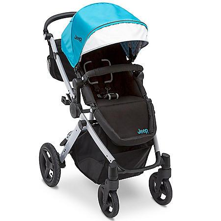 Jeep Sport Utility All-Terrain Stroller by Delta Children, Aqua/Silver