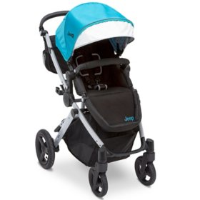 Jeep Sport Utility All-Terrain Stroller by Delta Children, Aqua/Silver