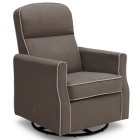 Delta Children Clair Slim Nursery Glider Swivel Rocker Chair (Choose Your Color)