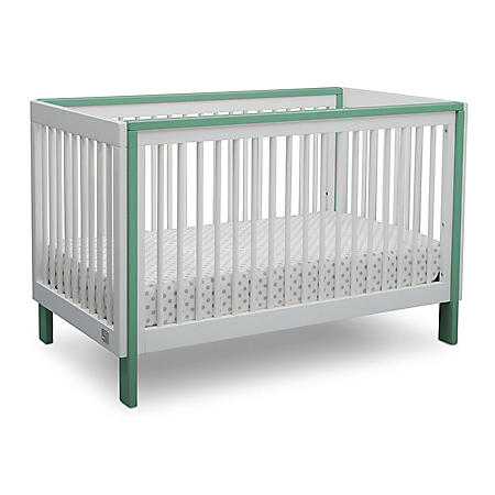 Serta Fremont 3-in-1 Convertible Crib, Bianca/Aqua