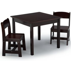 Delta Children MySize Kids' Wood Table and Chair Set - 2 Chairs, Assorted Colors