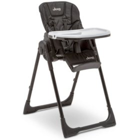 Jeep Classic Convertible High Chair for Babies and Toddlers by Delta Children, Midnight Black
