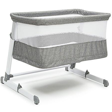 Simmons Kids Room2Grow Newborn Bassinet to Infant Sleeper, Gray Tweed