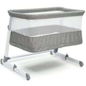 Simmons Kids Room2Grow Newborn Bassinet to Infant Sleeper, Gray Tweed