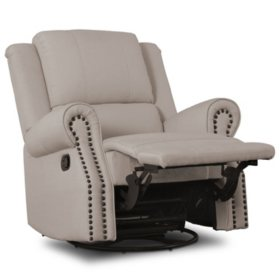 Delta Children Drake Nursery Glider Swivel Recliner (Choose Your Color)