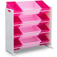Delta Children Kids' Toy Storage Organizer with 12 Plastic Bins, Assorted Colors