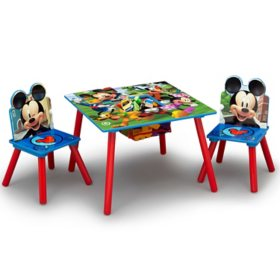 Disney Mickey Mouse Kids Table and Chair Set with Storage by Delta Children