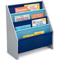 Delta Children Sling Book Rack Bookshelf for Kids, Assorted Colors