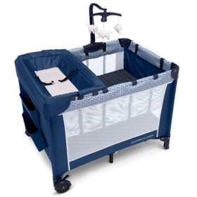 Delta Children LX Deluxe Portable Baby Play Yard, Midnight