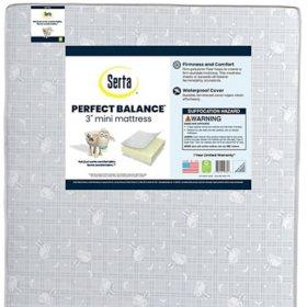 "Serta Perfect Balance 3"" Mini Crib Mattress"