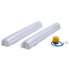 Serta Perfect Sleeper Inflatable Bed Rails for Toddlers and Kids with Foot Pump, White (2 pack)