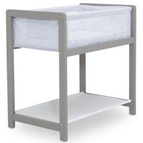 Delta Children Classic Wood Bedside Bassinet Sleeper (Choose Your Color)